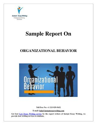 Sample Report on Organizational behavior by Expert Writers of Instant Essay Writing