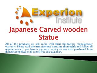 Japanese Carved wooden Statue