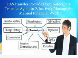 FASTransfer Provides Computershare Transfer Agent to Effectively Manage the Manual Financial Work
