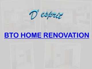 BTO Home Renovation | D'esprit Interiors