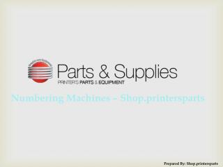 Buy Numbering Machine Spare Parts at Shop.PrintersParts.com