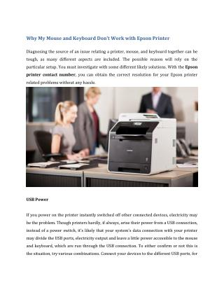 Why My Mouse and Keyboard Don't Work with Epson Printer