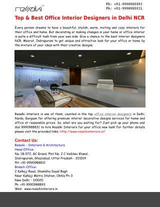 Best Office Interior Designers in Noida