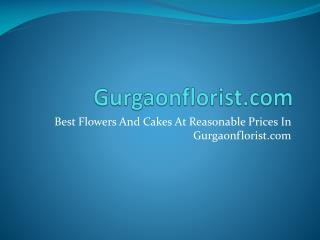 Best Flowers And Cakes At Reasonable Prices In Gurgaonflorist.com