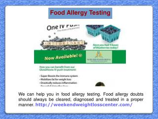 Food Allergy Testing