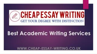 Cheap Essay Writing UK - Best Academic Writing Company