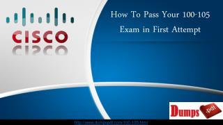 Cisco 100-105 ICND1 Latest Question Answers Released on DumpsPDF