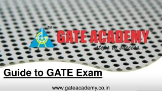 Guide to GATE Exam