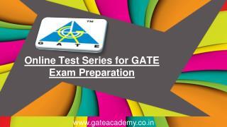 Online Test Series for GATE Exam Preparation