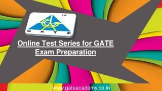 Online Test Series for GATE Exam Preparation