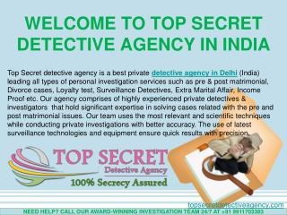 Detective Agency in India