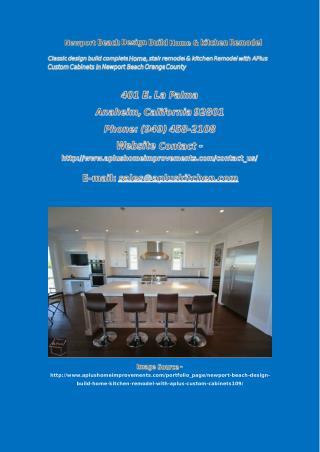 Newport Beach Design Build Home & kitchen Remodel