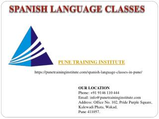 spanish Language Classes - institutes in Pune  | Pune Training Institute