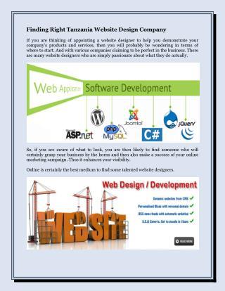 Finding Right Tanzania Website Design Company