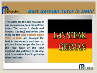 German language Home Tutor