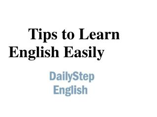 Tips to Learn English Easily
