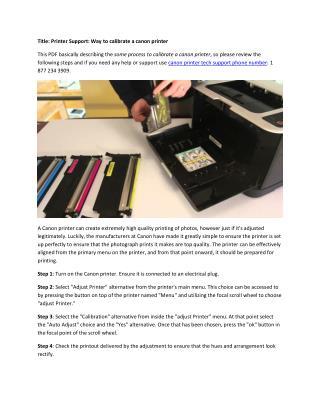 Printer Support: Calibrate a canon printer