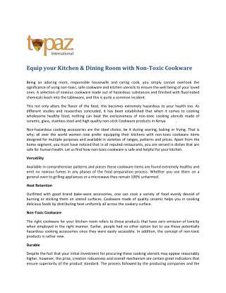 Kitchen & Dining Products Kenya