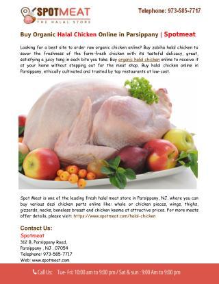 Buy Halal Chicken Online in Parsippany - Spotmeat