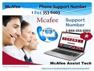 Mcafee antivirus technical support phone number 1-844-353-6003