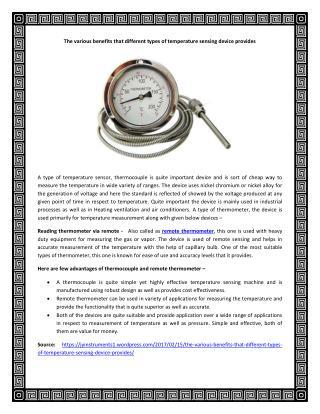 Remote Thermometer