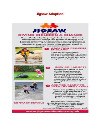 Adoption England - Jigsaw Adoption UK