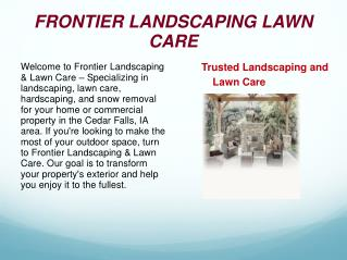 Landscape Maintenance Grundy Center IA