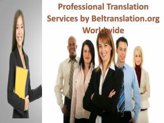 Professional Translation Services by Beltranslation.org Worldwide