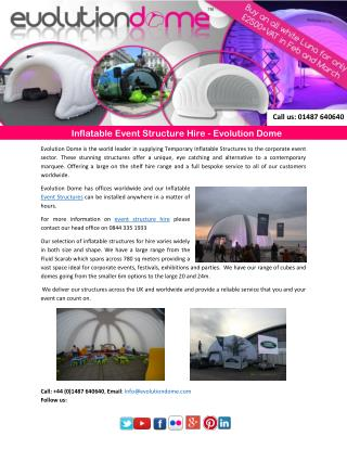 Inflatable Event Structure Hire - Evolution Dome