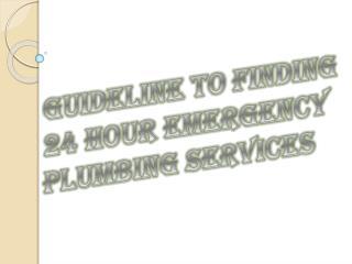 Reduce 24-hours Emergency Plumbing Calls