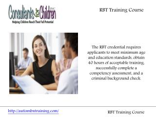 RBT Training Course