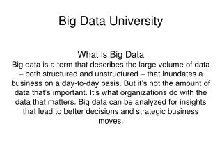 Big Data University - Online Courses