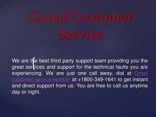 Contact Us via  1800-349-1641 Gmail Customer Support Number