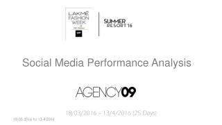 Lakme Fashion Week - Summer Resort 2016 - Social Media Coverage - AGENCY09