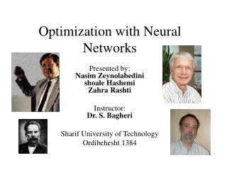 Optimization with Neural Networks