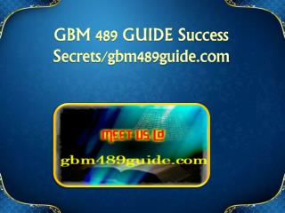 GBM 489 GUIDE Success Secrets/gbm489guide.com
