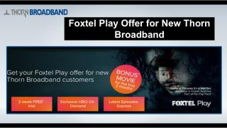 Unlimited NBN Home Bundle | Thorn  Broadband