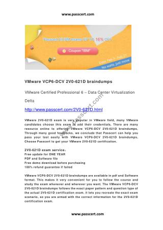VMware VCP6-DCV 2V0-621D braindumps