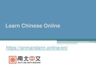 Learn Chinese Online - Snmandarin.online