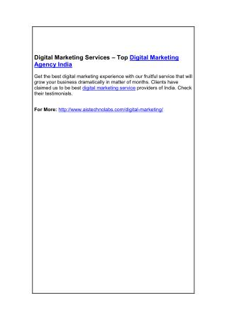 Digital Marketing Services – Top Digital Marketing Agency India