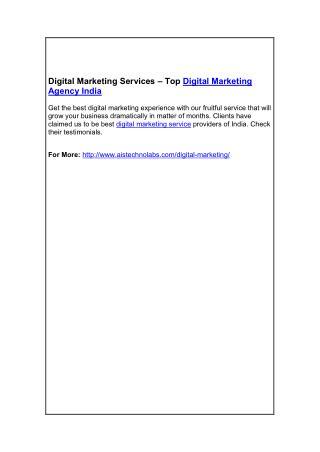 Digital Marketing Services – Top Digital Marketing Agency India