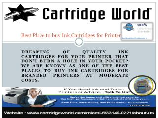 Best Place to buy Ink Cartridges for Printer