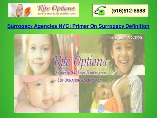 Surrogacy Agencies NYC: Primer on Surrogacy Definition