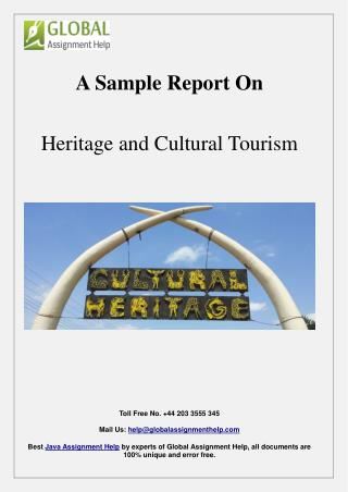 Sample on Heritage and Cultural Tourism By Global Assignment Help