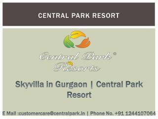 Villa in Gurgaon | Central Park Resorts