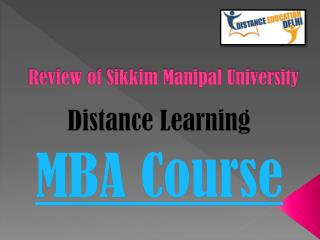 Review of SMU Distance Learning MBA course
