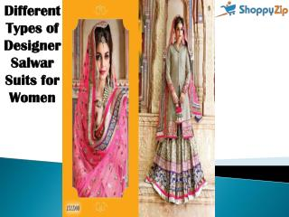Different Types of Designer Salwar Suits for Women