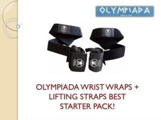 OLYMPIADA WRIST WRAPS   LIFTING STRAPS BEST STARTER PACK!