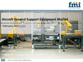 Research Report Covers the Aircraft Ground Support Equipment Market Share and Growth, 2017-2027