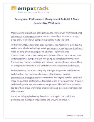 Re-engineer Performance Management To Build A More Competitive Workforce